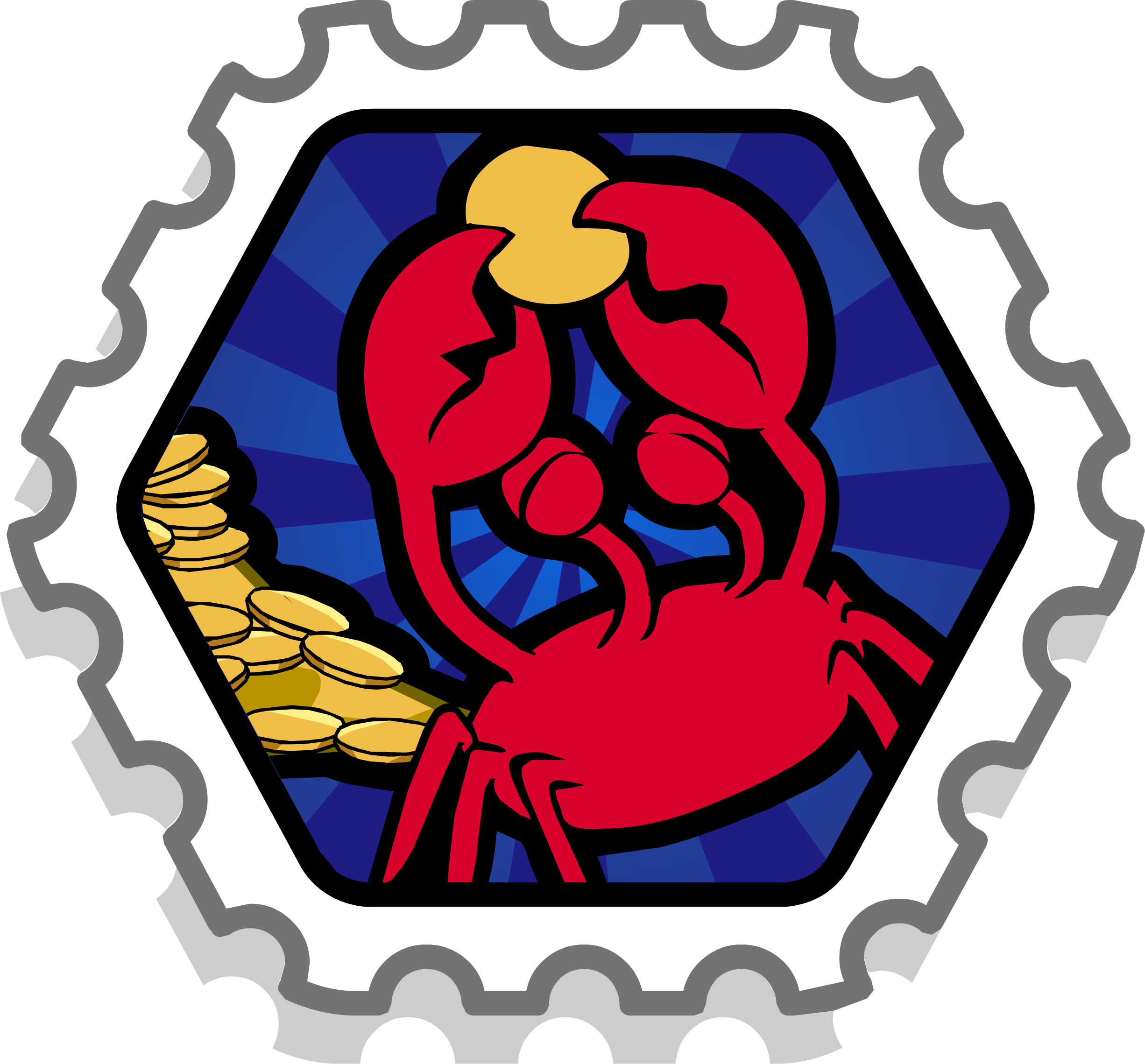 Crab's Treasure Stamp