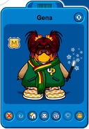Gena Player Card - Early January 2020 - Club Penguin Rewritten