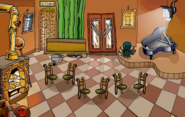 Pizza parlor but upside down