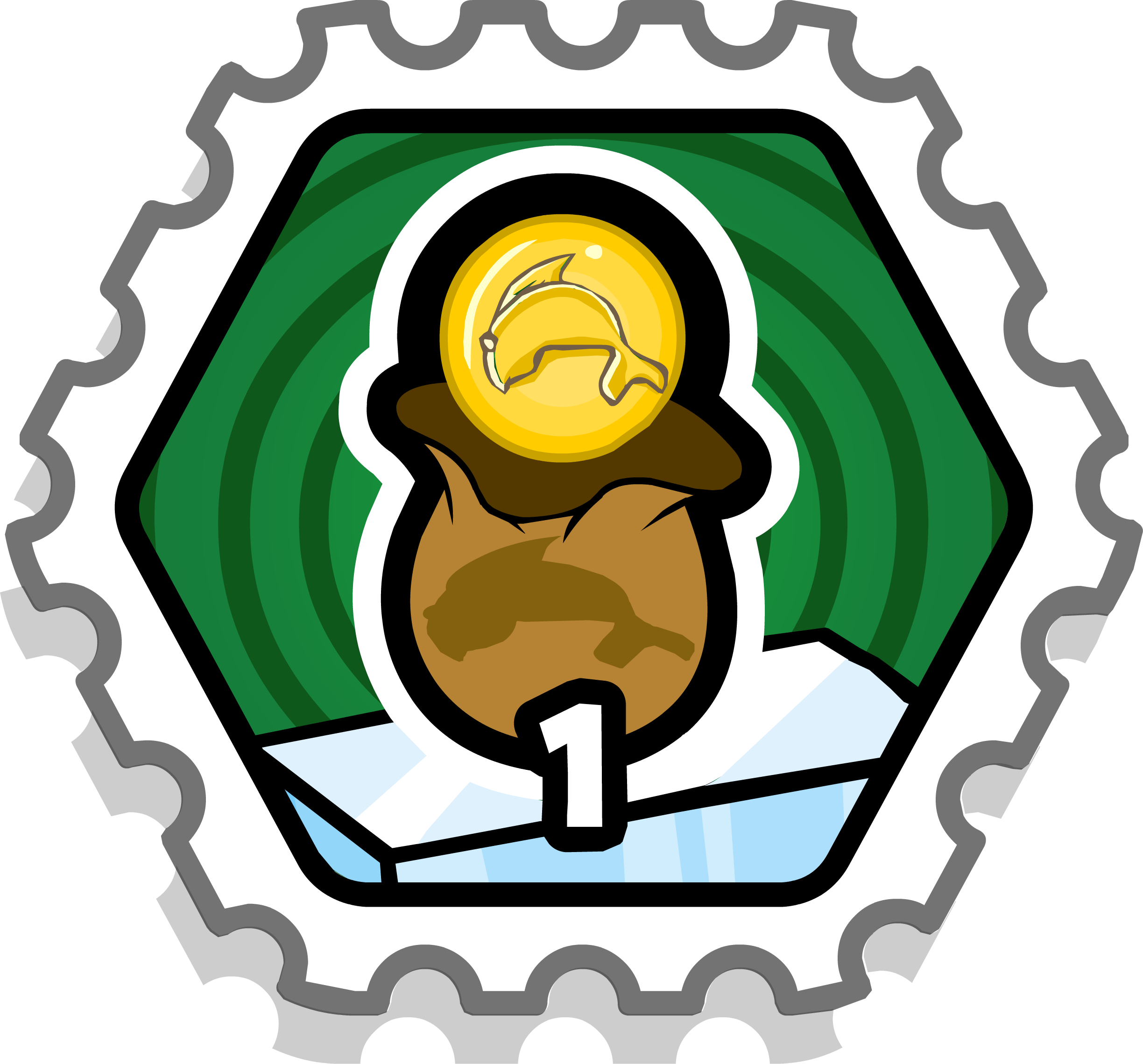 1 Coin Bag Stamp (Puffle Rescue)