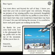 Letter from Aunt Arctic full award