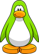 Lime Green Create Penguin