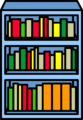 Blue Bookshelf sprite 002