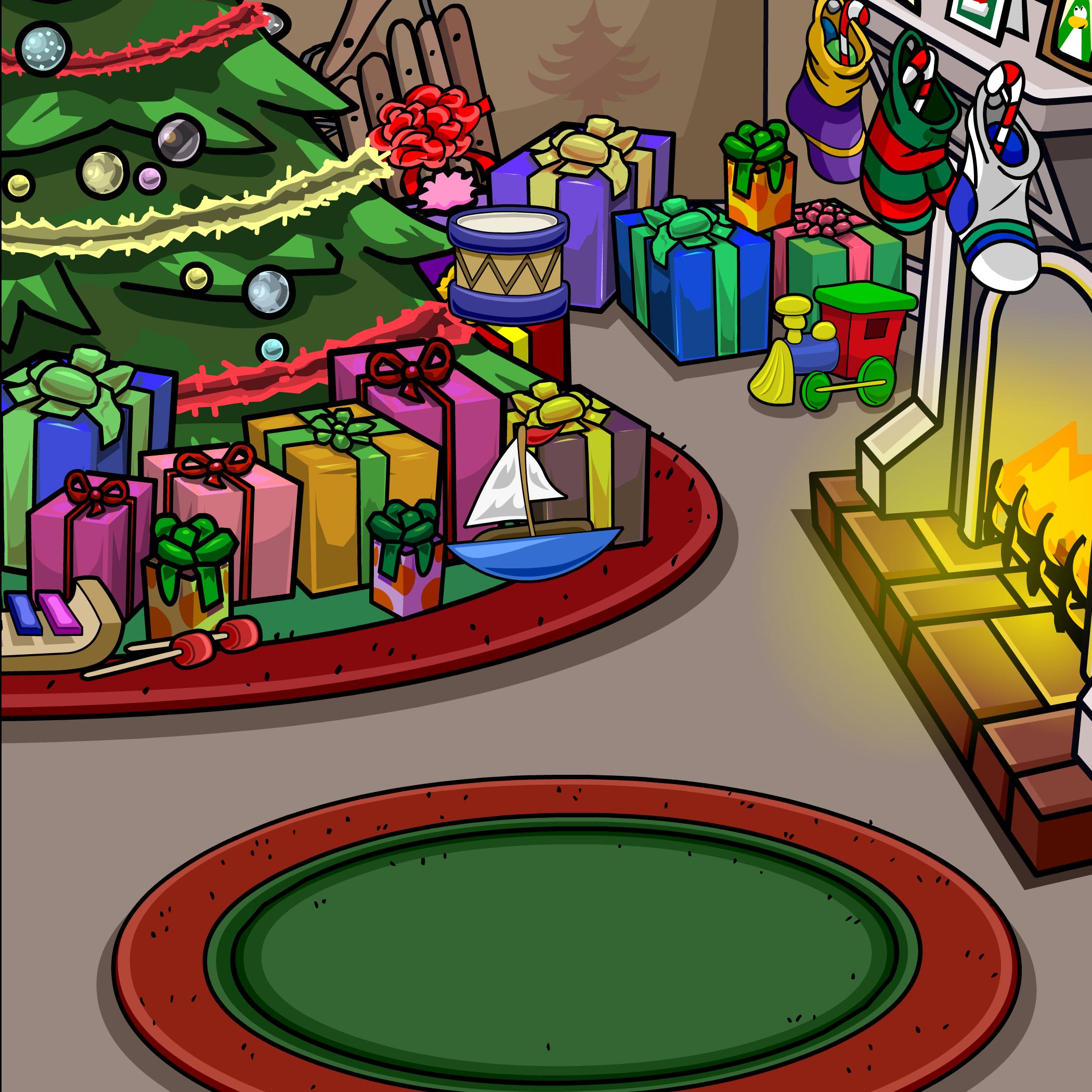 Holiday Fireplace Background