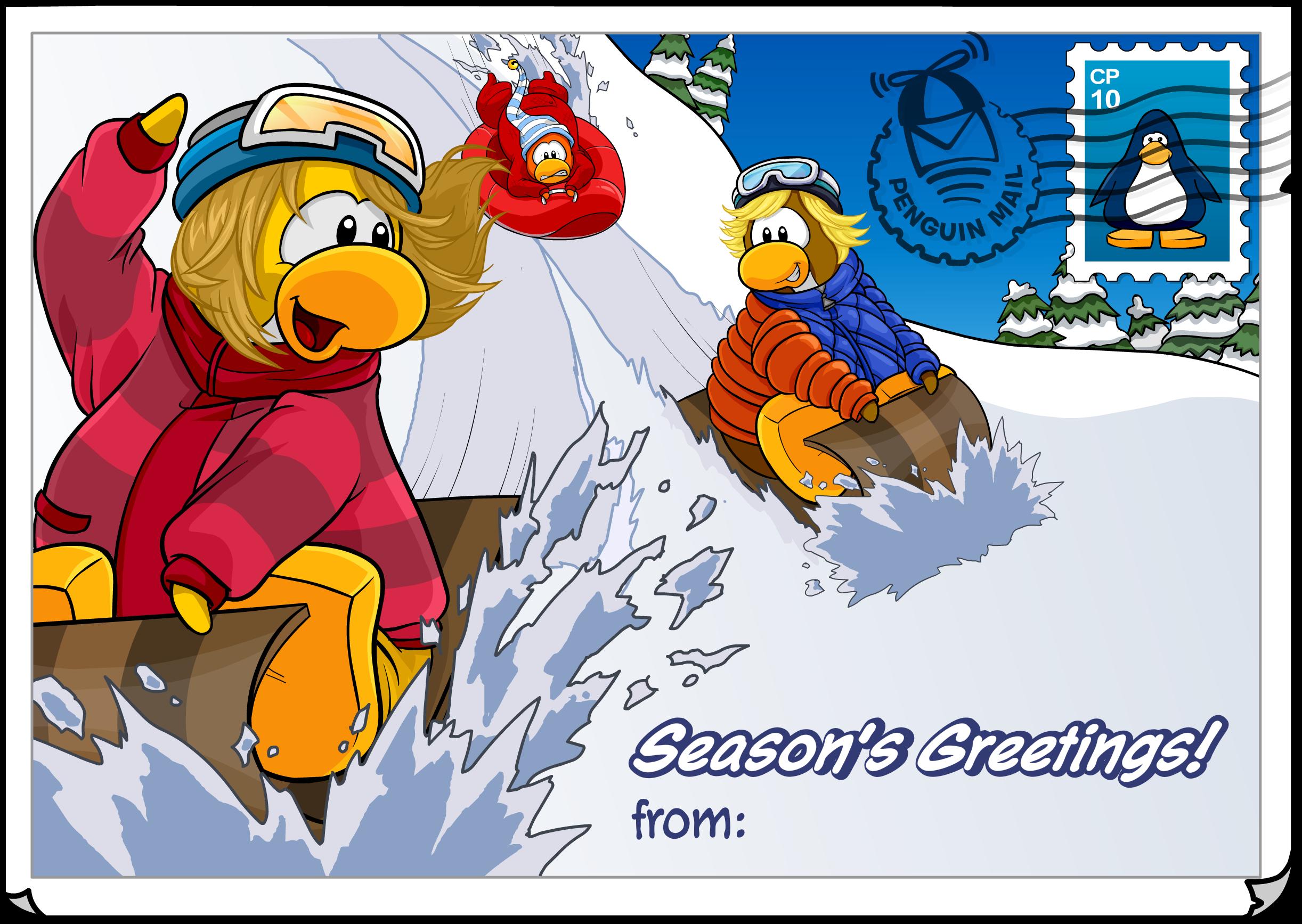Season's Greetings Postcard (ID 210)