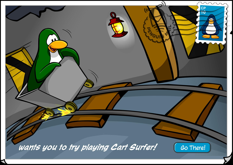 Cart Surfer Postcard