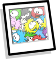 Puffle Collage Background Icon