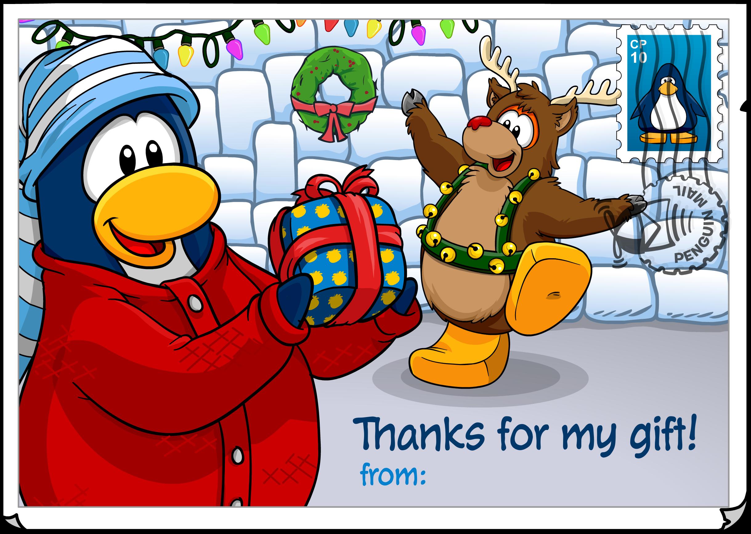Thanks for Gift Postcard