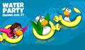 Water Party 2020 Login Screen