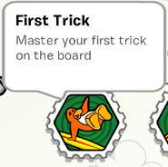 First trick stamp book