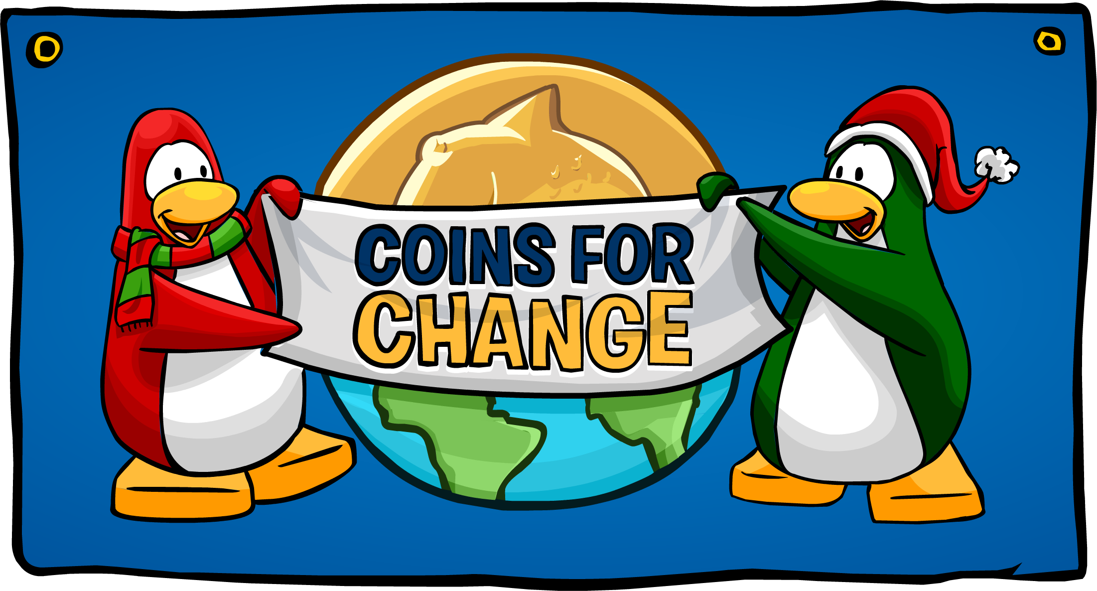 Coins For Change Banner