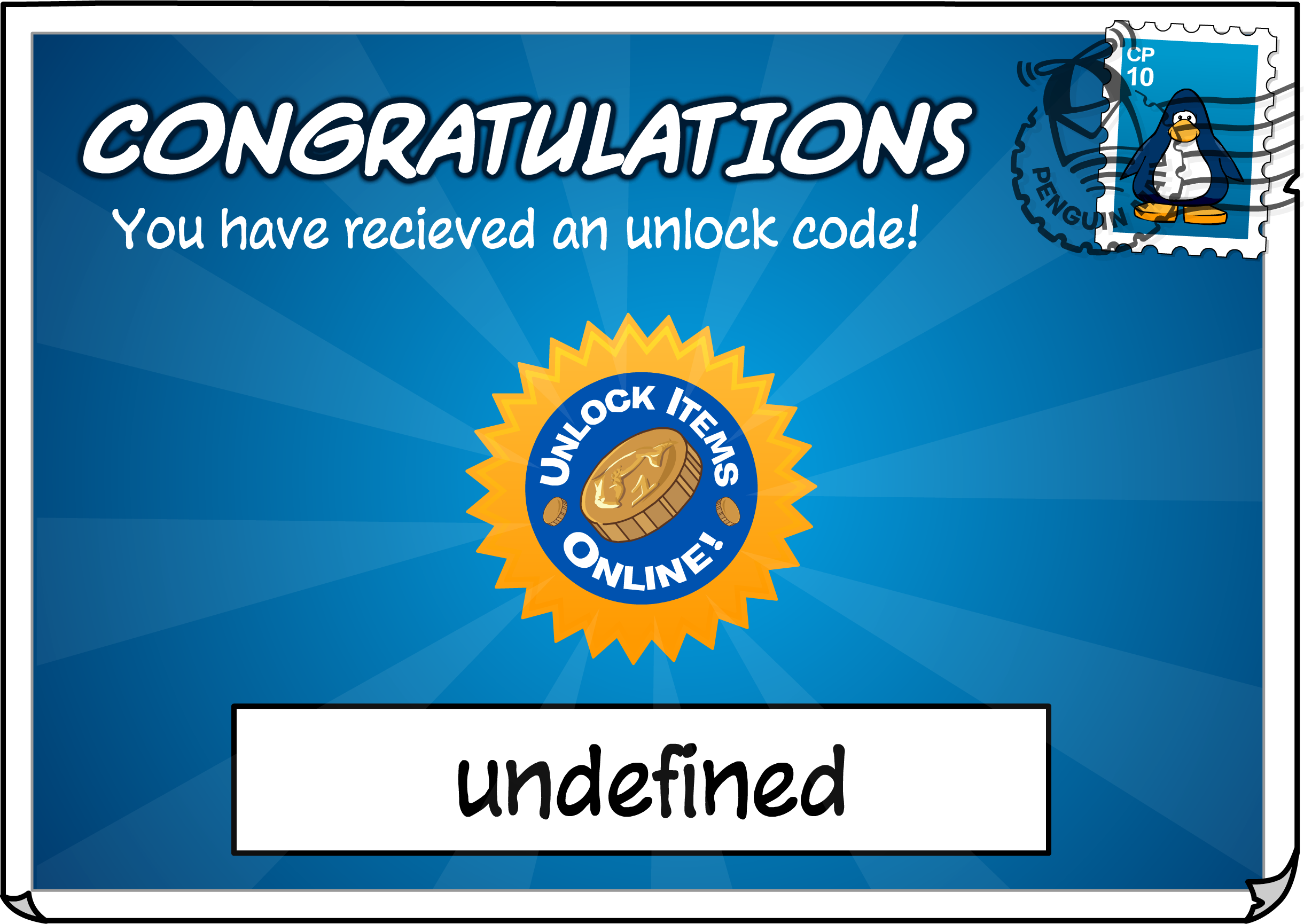 Unlock Code Postcard