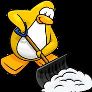 Snow Shovel Penguin Style Dec'17