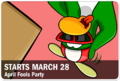 April Fools' Party 2019 Advert Issue 97