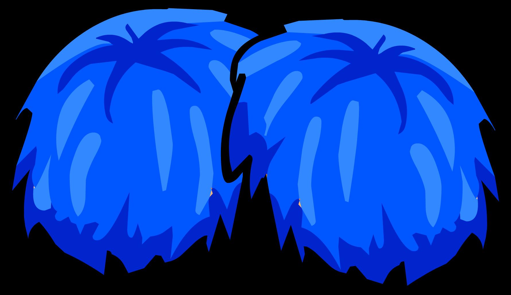 Blue Pompoms