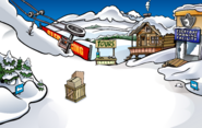 April Fools Party 2019 Ski Village constuction