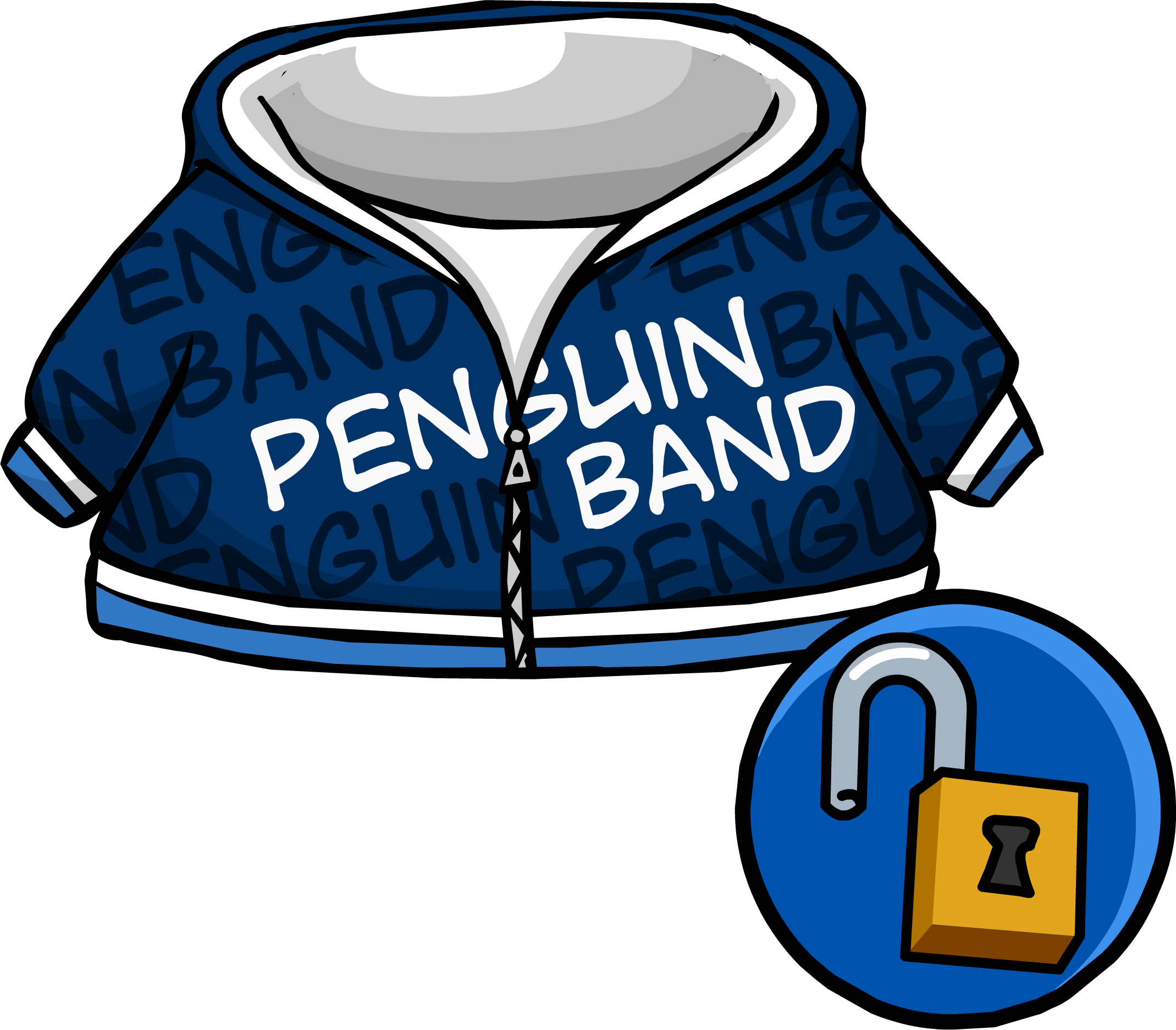 Blue Penguin Band Hoodie