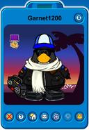 Garnet1200 Player Card - Early May 2020 - Club Penguin Rewritten