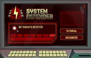 System Defender Menu