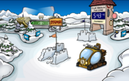 Prehistoric Party construction Snow forts