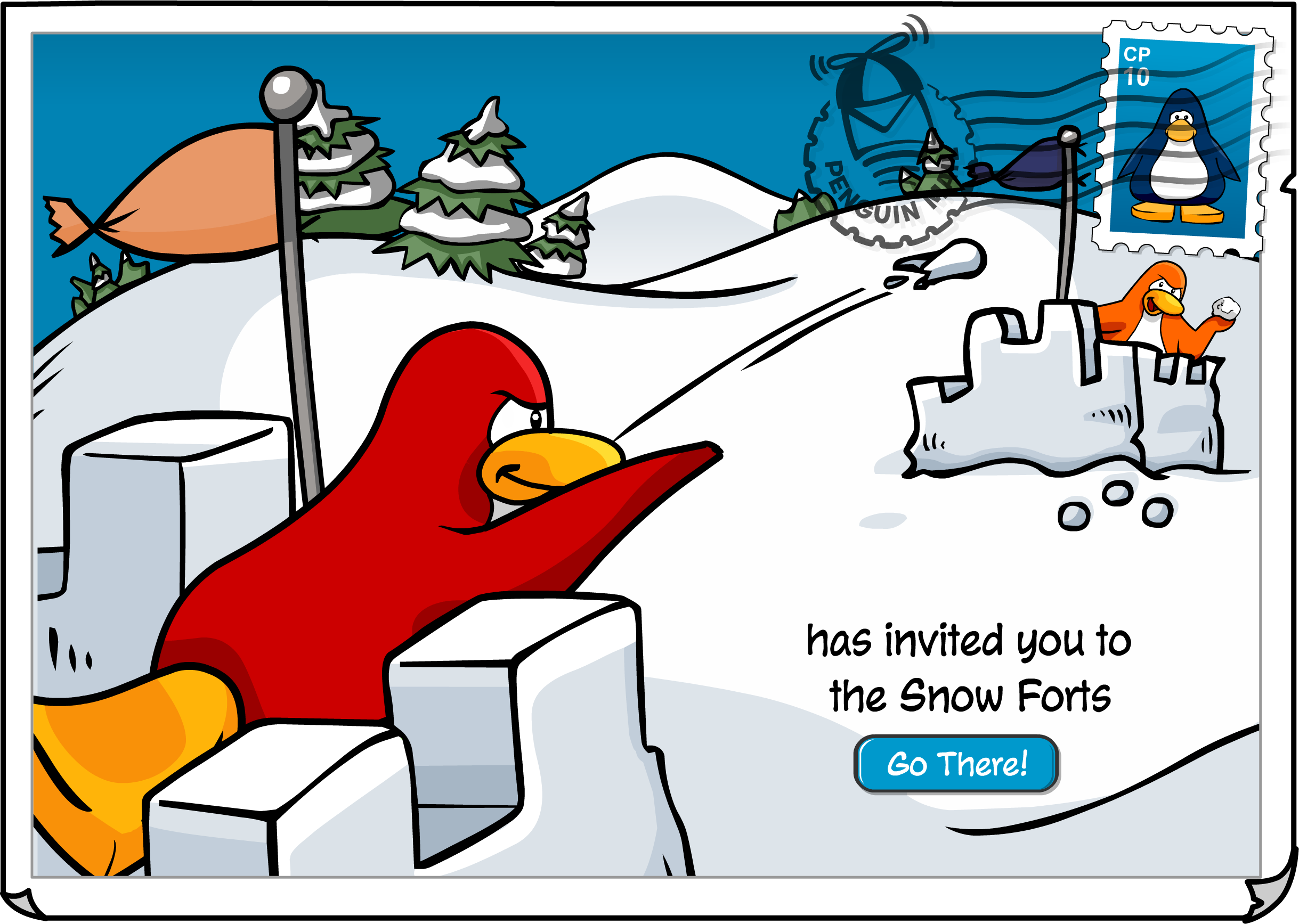 Snow Forts Postcard