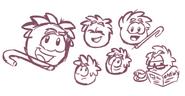 Grey Puffle Sketch