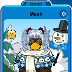 Maah Player Card - Mid December 2019 - Club Penguin Rewritten.png