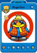 RogerDan Player Card - Mid April 2021 - Club Penguin Rewritten
