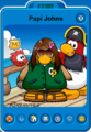 Papi Johns Player Card - Early August 2020 - Club Penguin Rewritten