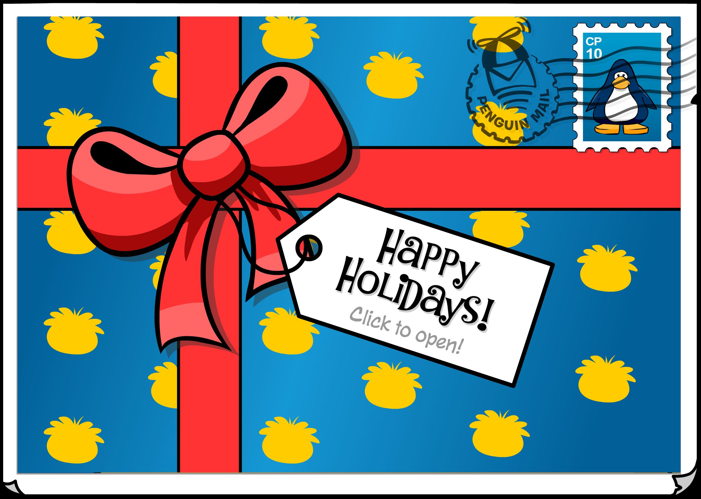 Happy Holidays Postcard (ID 216)