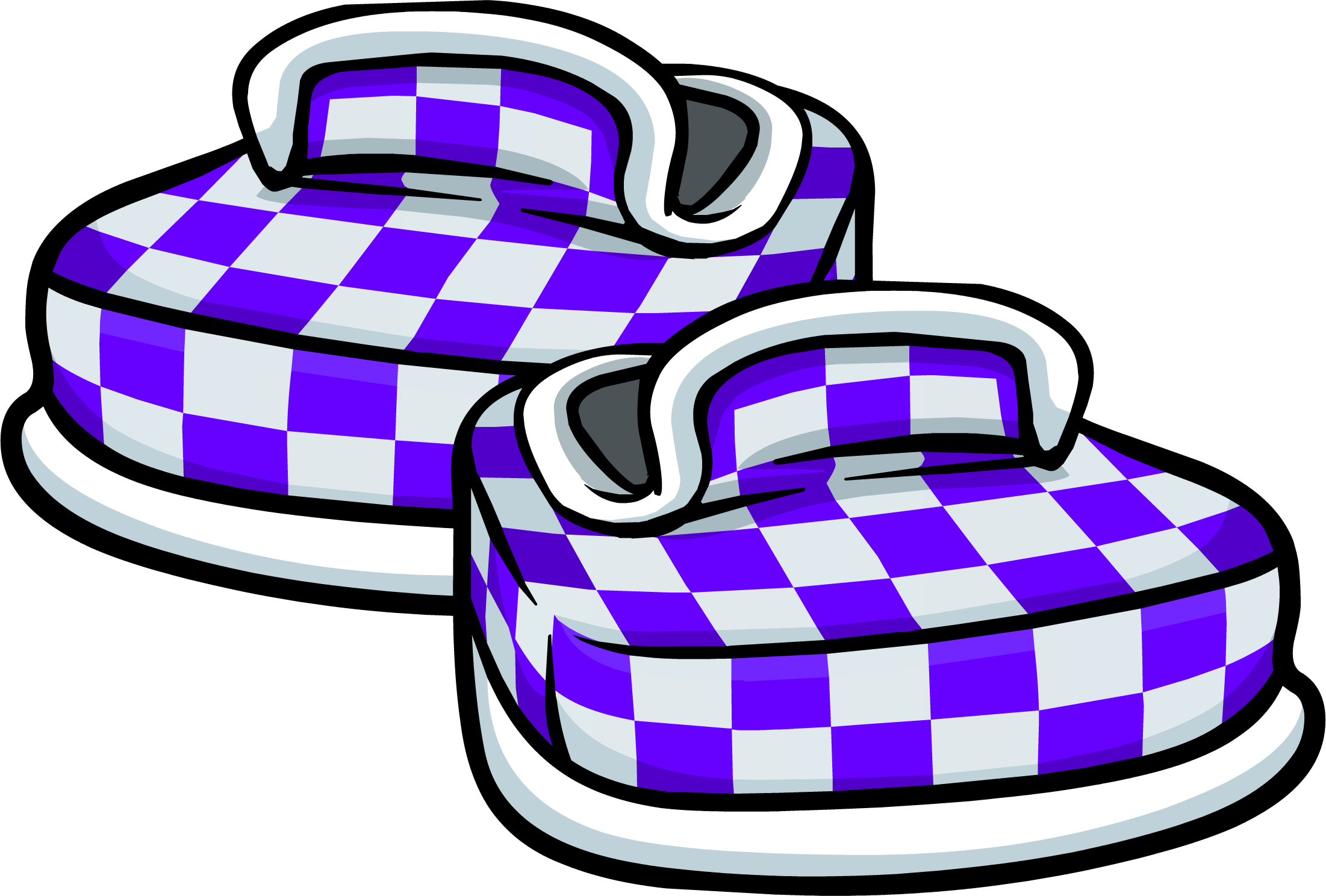 Purple Checkered Shoes (ID 6106)