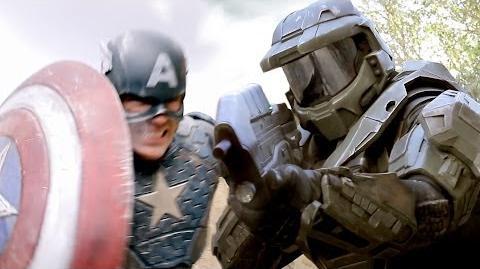 CAPTAIN AMERICA vs MASTER CHIEF - Super Power Beat Down (Episode 11)