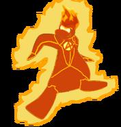 Antorcha Humana echa de fuego