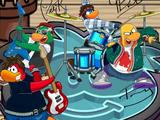 Fondo del Show de La Penguin Band