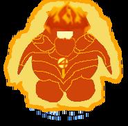 Antorcha Humana hecha de fuego en el juego