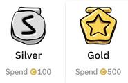 Silver y gold