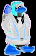 Pingüino Jet-Fury Sonrriendo