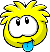 Yellow PuffleTongue