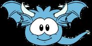 Blue Puffle Dragon Sprite