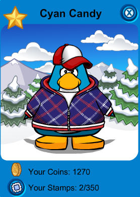 Club Penguin - Cyan Candy - Player Card.png