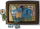 Lodge Attic bulletin board 2