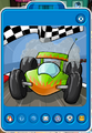 Lime green race cars