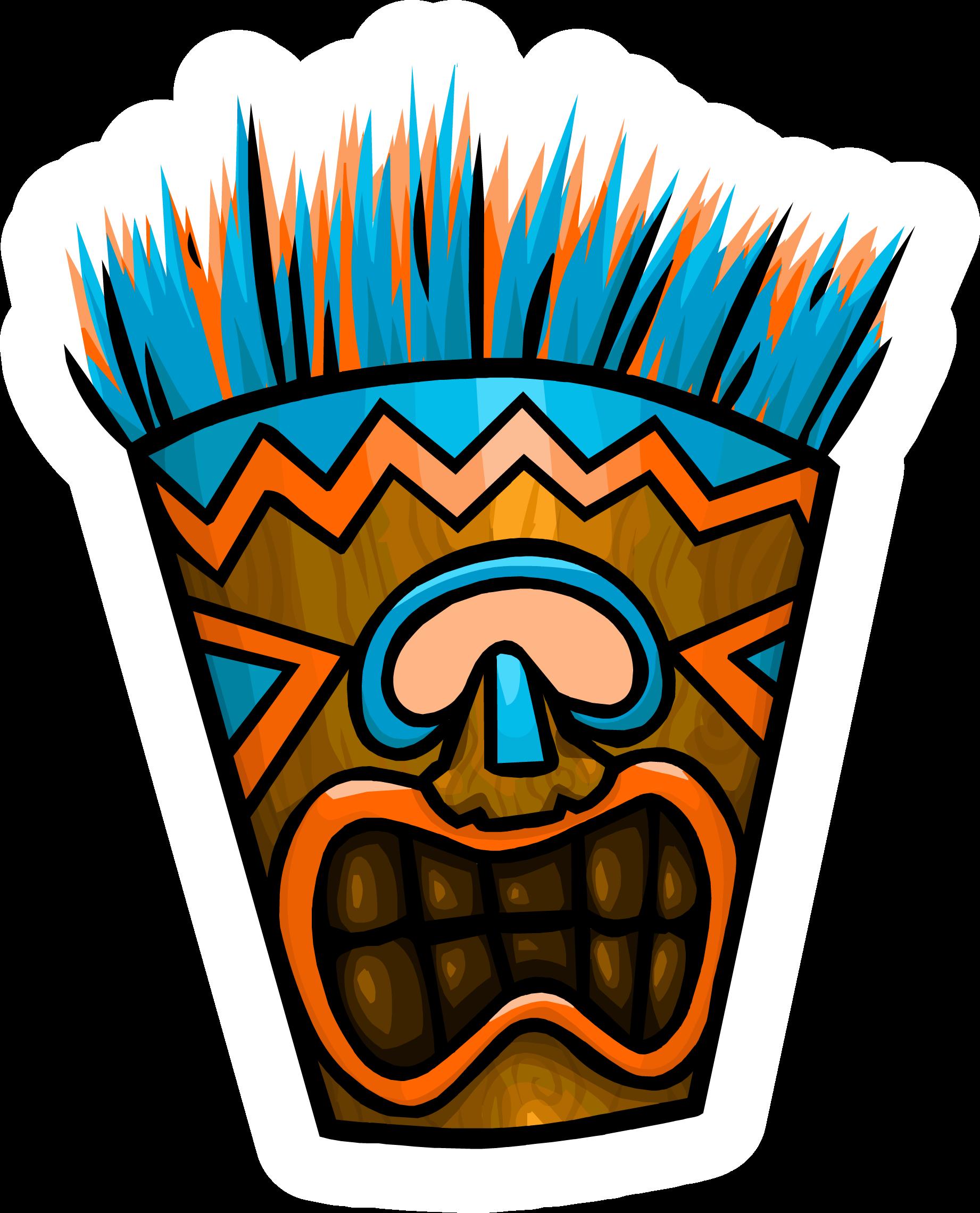 Pin de Mascara Tiki