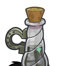 350px-Medieval 2013 Potions Black Puffle Unicorn.png