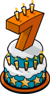 7th Anniversary Party Cake
