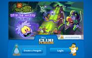 Halloween Party 2014 login screen