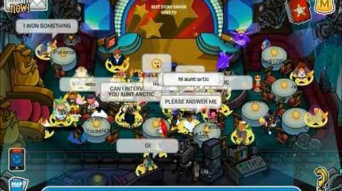 Club Penguin Meeting Aunt Arctic- Hollywood Party 2013