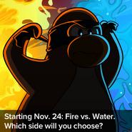 Fire vs Water Advertisement