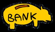 Fluffy the fish piggy bank