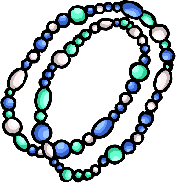 Aqua Bead Necklace